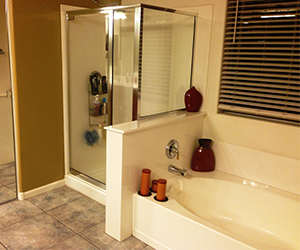 Bathroom Remodel Gilbert Az master bathroom remodel | a case study | arizona granite enterprises