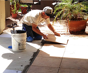 Patio Laying Tile